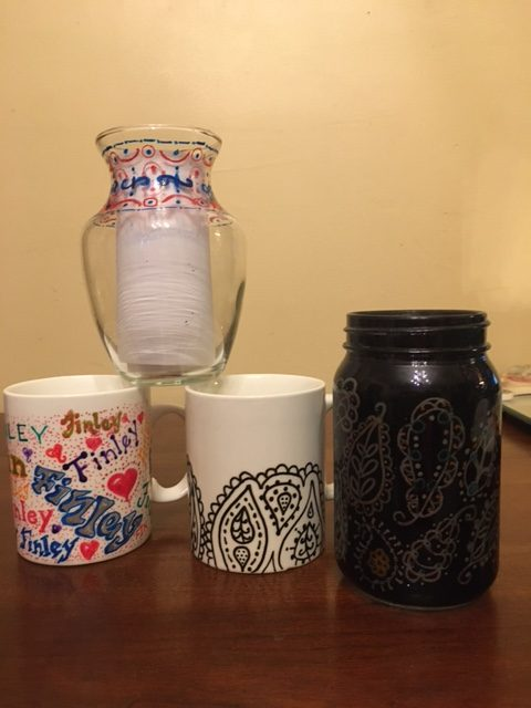Porcelain and Glass Embelishing (Zen Tangle and more)
