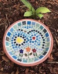 Garden Themed Mosaic Birdbath